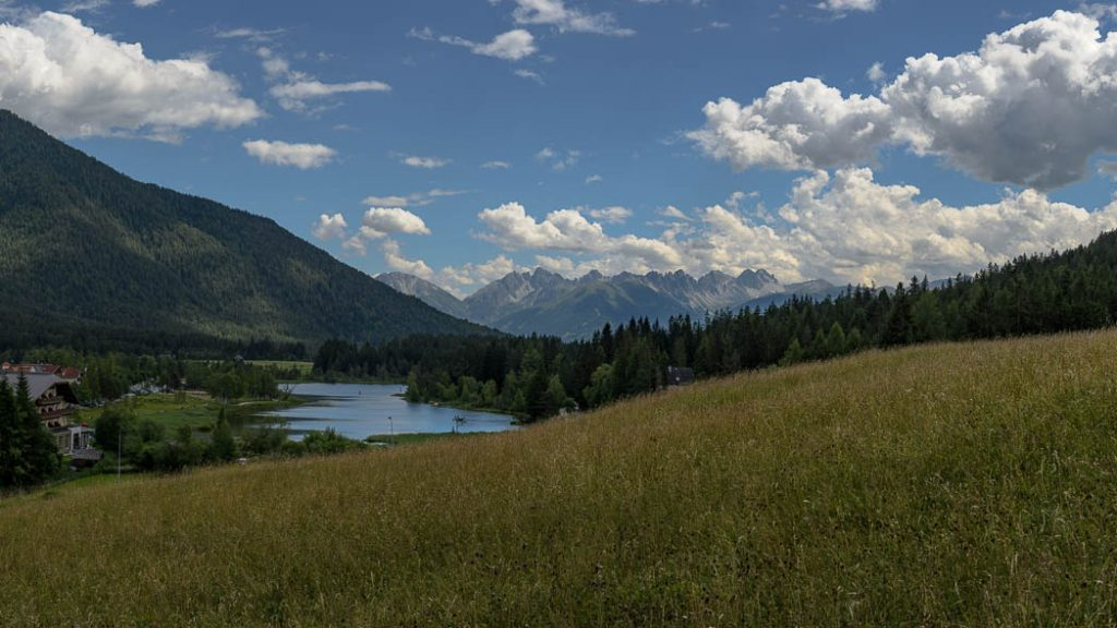 The Austrian Alps are full of pretty meadows and small lakes like this one just outside Seefeld in Tirol.