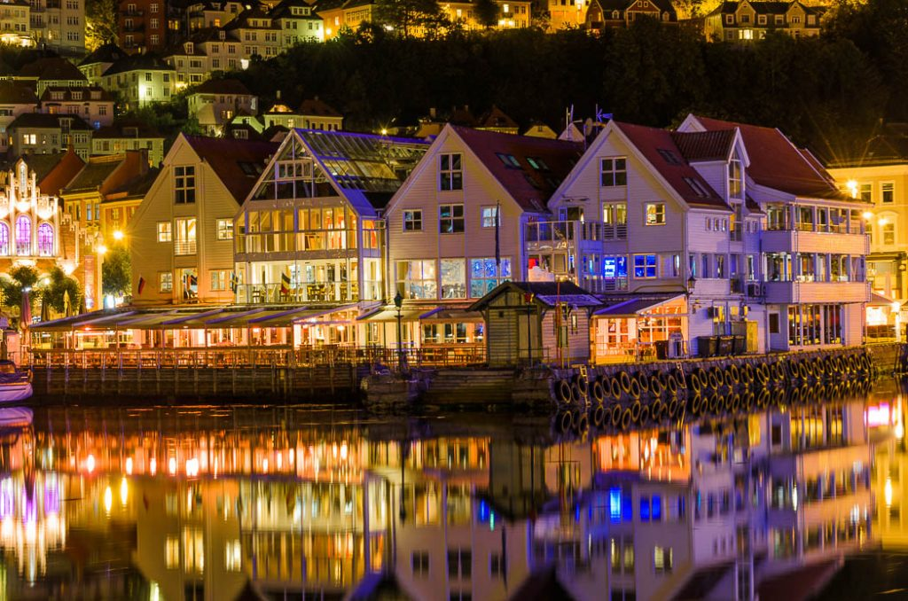 Zacharias Bryggen by night. A fun nightspot in the city of Bergen.