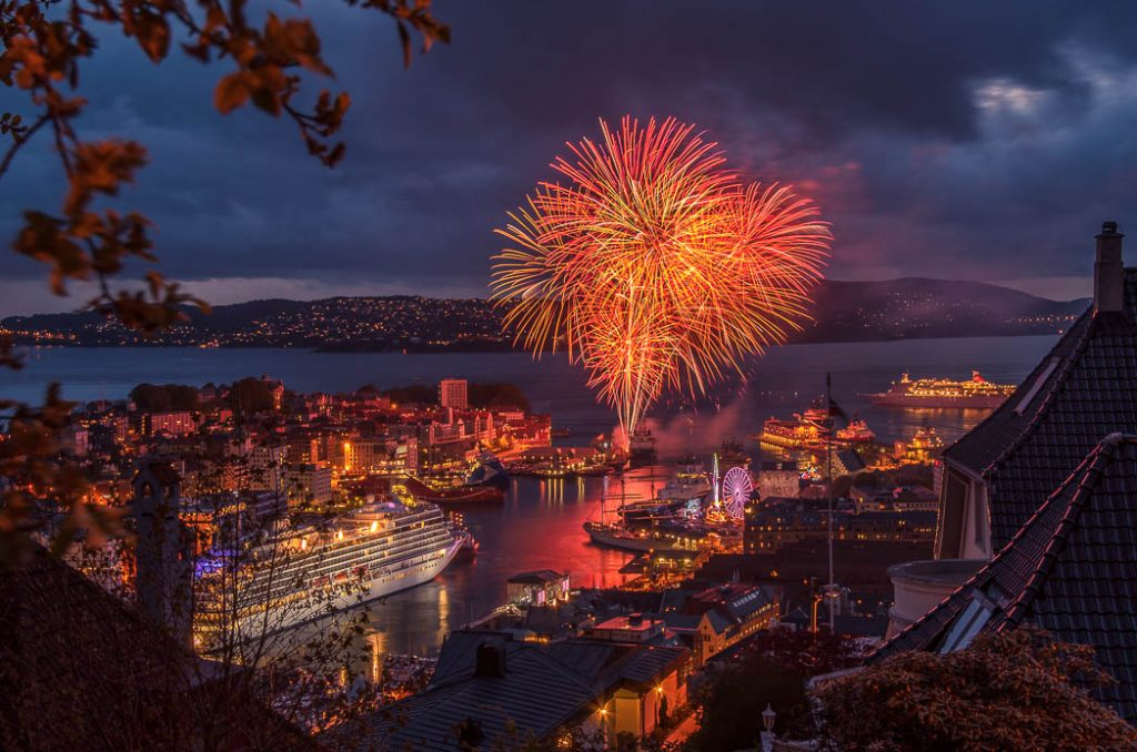 Fireworks for the Norwegian National Holiday