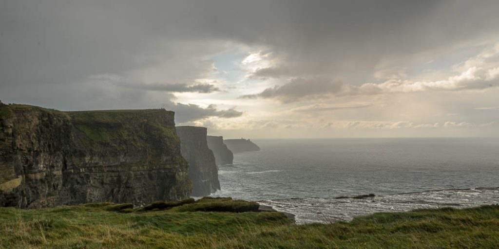 The famous Cliffs of Moher in County Clare on the west coast of Ireland.