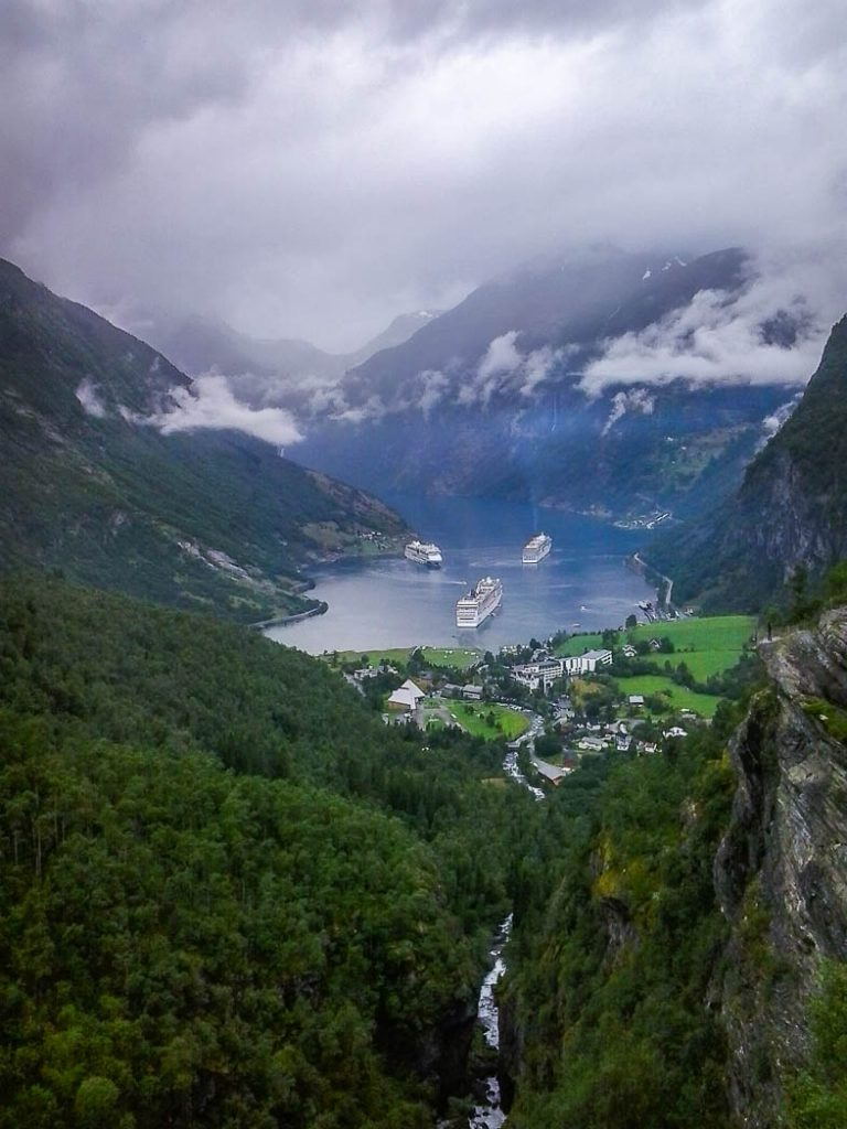 View from Above Geiranger fjord