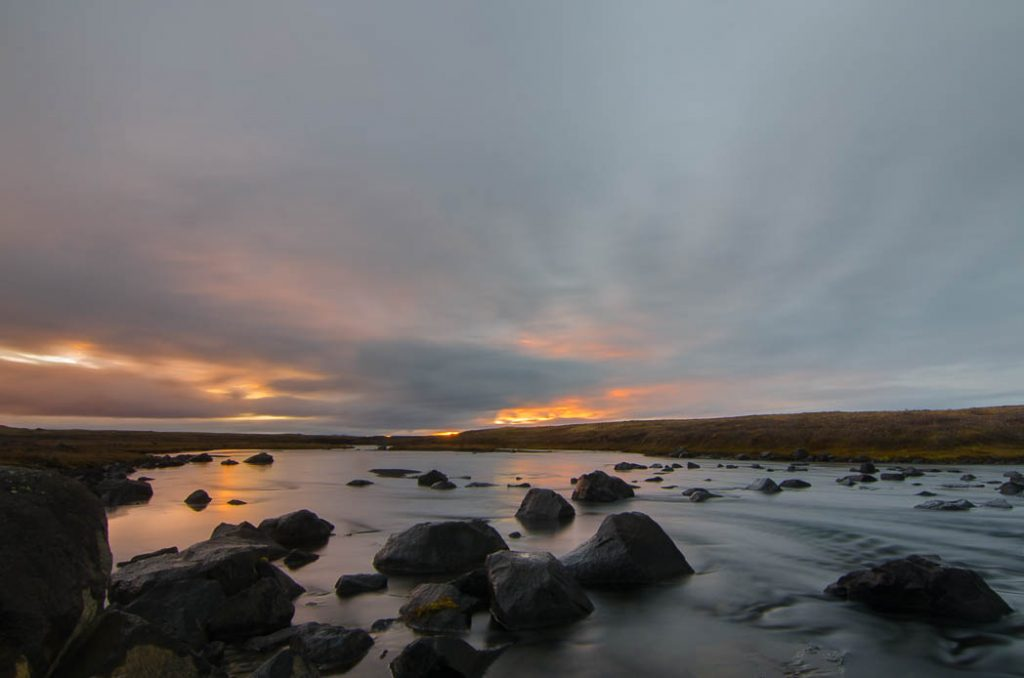 Rivers and Sunsest are everywhere in Iceland. Sunsets actually take a longer time so far north.