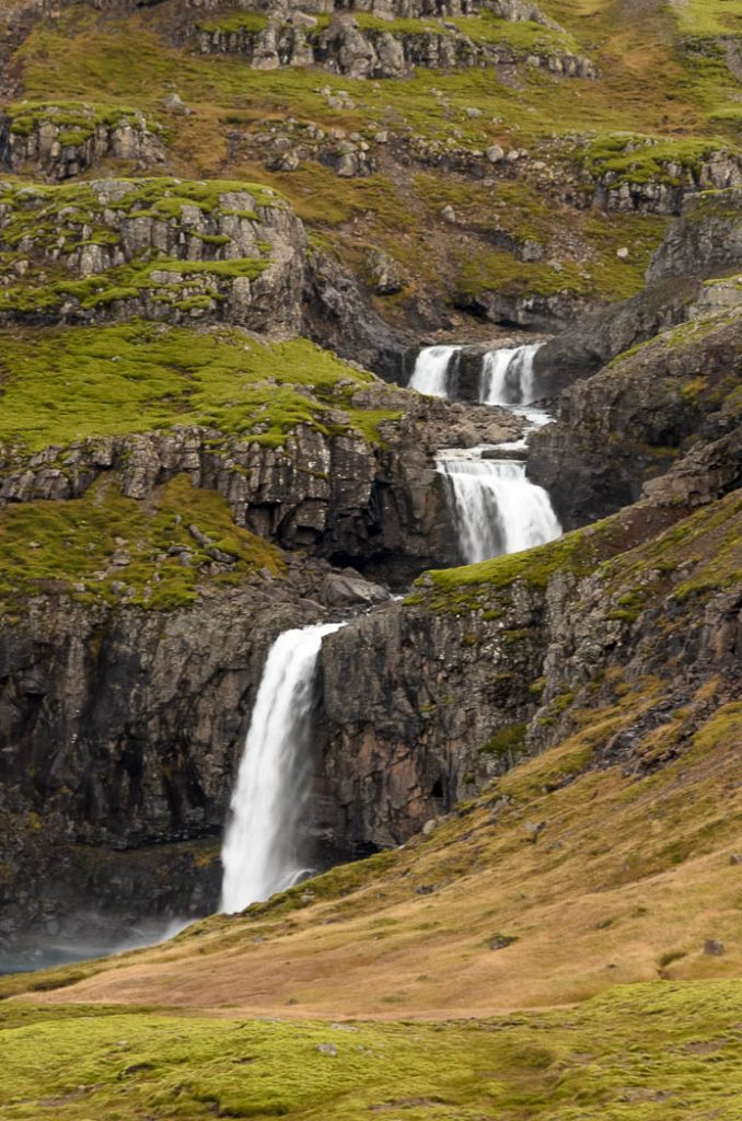 Multiple falls in Eastern Iceland