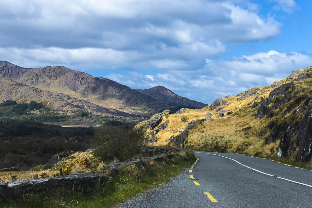 The road through the Beara mountians on the Beara Peninsula, the less famous cousin of the Ring of Kerry.