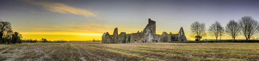 The ruins of an old medieval monestary in Ovens, County Cork.