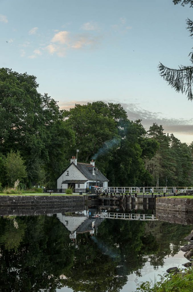 The Caledonian Canal has numerous locks and lochs along its length.