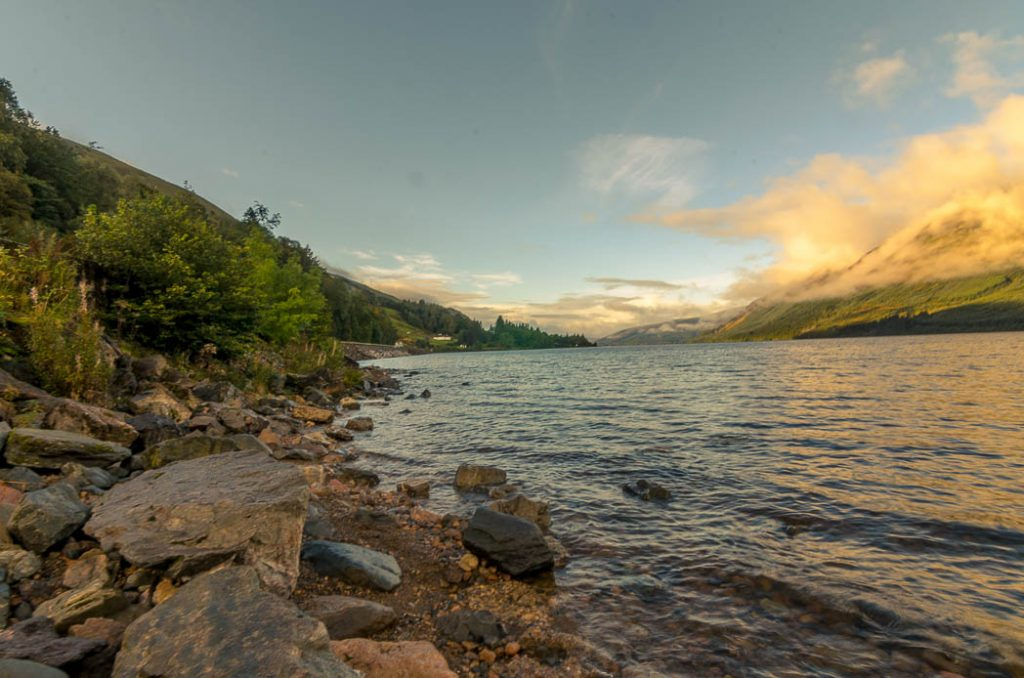 Loch Lochy is part of the Great Glen in the Scottish Highlands.