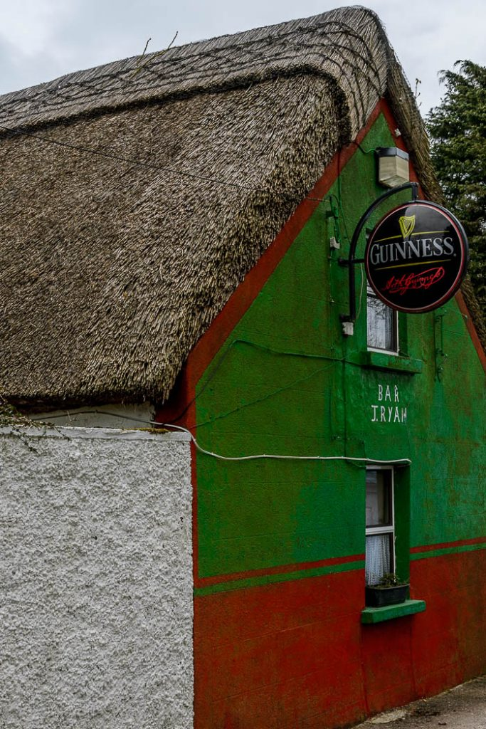 It isn't common for a pub to have a thatched roof but some traditions still survive.