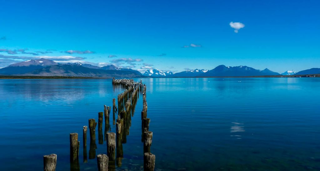 The waterfront in Puerto Natales, Chile.