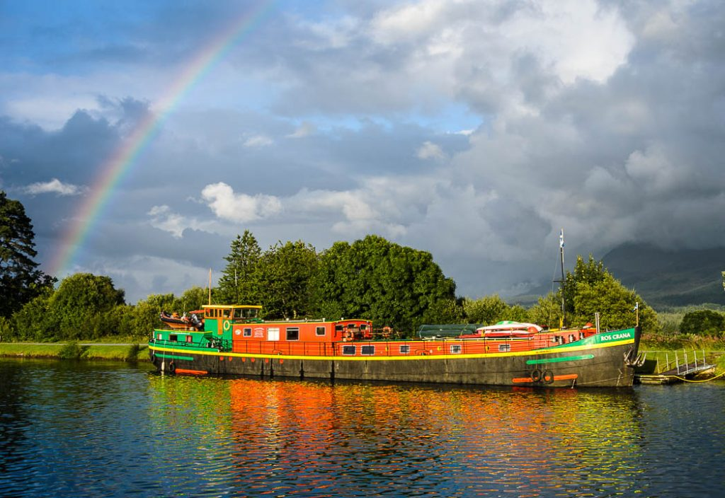 Cruising on the Caledonian Canal will treat you to more than just beautiful rainbows.