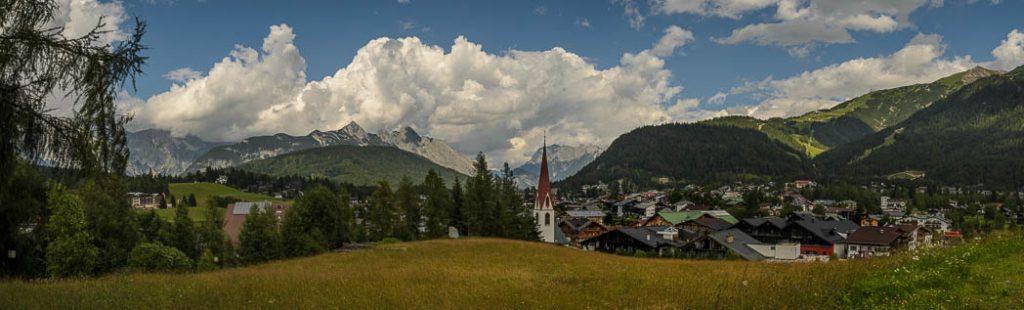 Seefeld in Tirol is both a ski resort and a summer resort.