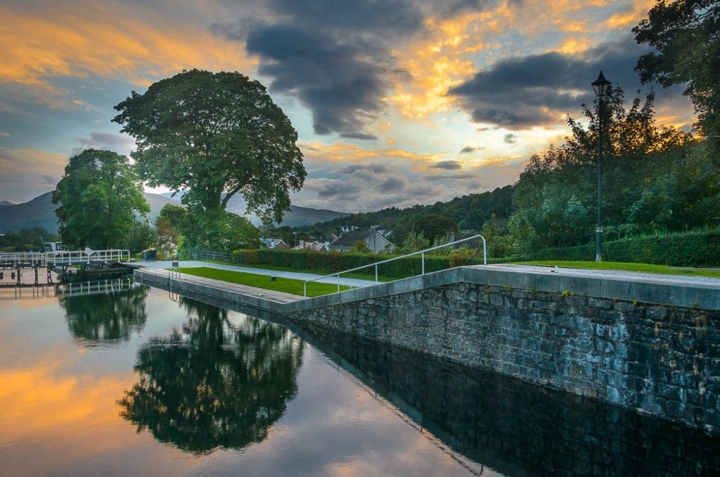 Neptunes Staircase is a collection of seven locks one after another at the end of the Caledonian Canal.