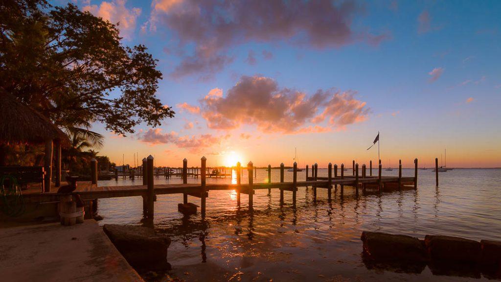 Sunset over the Keys, in Key Largo.