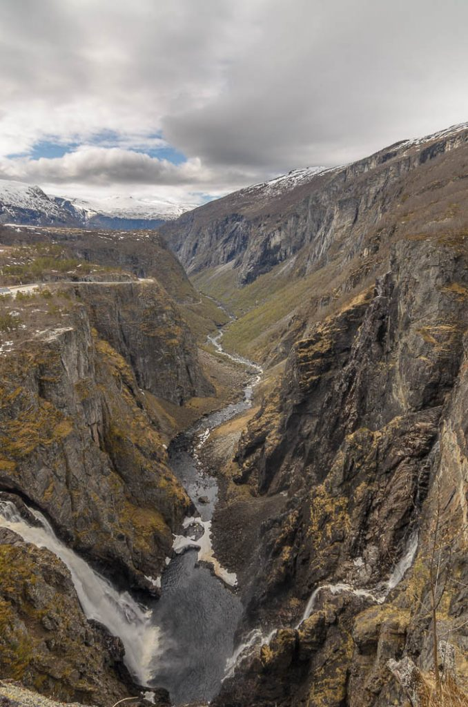 The valley below Vøringfossen, Norway's most famous waterfall.