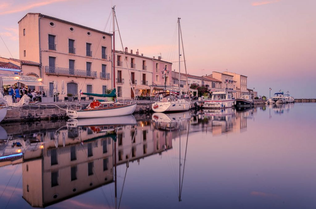 The port town of Marseillan on the Etang de Thau in southern France