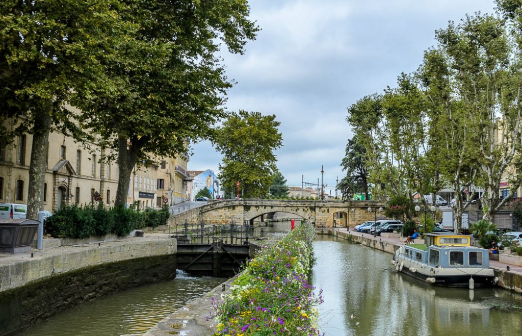 The canal that links Narbonne to the Canal du Midi.