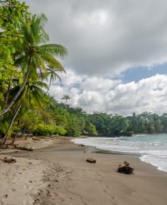 Costa Rica might have tropical beaches but lots of them are not white sand. As the country has lots of volcanoes the beaches have lovely volcanic sands.